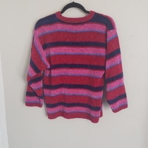 Vintage Sweaters - Vintage Colorful Bold Striped Sweater